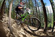 Grady James competes in Stage 3 of the Keystone Big Mountain Enduro in Keystone, CO. ©Brett Wilhelm