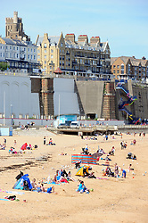 © Licensed to London News Pictures. 03/06/2017<br /> Ramsgate beach front.<br /> Sunny weather this afternoon in Ramsgate, Kent.<br /> Photo credit: Grant Falvey/LNP