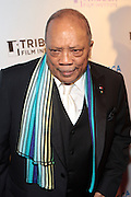 28 April 2011- New York,  NY-  Quincy Jones at The Tribeca Film Institute's 8th Annual Tribeca All Access (TAA) Legacy Celebration honoring Quincy Jones and held at Hiro Ballroom on April 28, 2011 in New York City. Photo Credit: Terrence Jennings