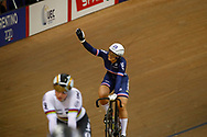 Women Keirin, Mathilde Gros (France) gold medal, during the Track Cycling European Championships Glasgow 2018, at Sir Chris Hoy Velodrome, in Glasgow, Great Britain, Day 6, on August 7, 2018 - Photo luca Bettini / BettiniPhoto / ProSportsImages / DPPI<br /> - Restriction / Netherlands out, Belgium out, Spain out, Italy out -