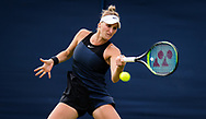 Marketa Vondrousova of the Czech Republic in action against Ons Jabeur of Tunisia during the first round at the 2021 Viking International WTA 500 tennis tournament on June 22, 2021 at Devonshire Park Tennis in Eastbourne, England - Photo Rob Prange / Spain ProSportsImages / DPPI / ProSportsImages / DPPI