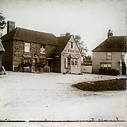 Magic lantern slide The Swan Inn, Preston or Preston-next-Wingham , selling Cobb & Co fine ales brewed in Margate, Kent, England, UK