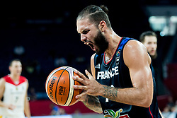 Evan Fournier of France reacts during basketball match between National Teams of Germany and France at Day 10 in Round of 16 of the FIBA EuroBasket 2017 at Sinan Erdem Dome in Istanbul, Turkey on September 9, 2017. Photo by Vid Ponikvar / Sportida