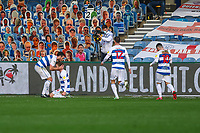 Football - 2020 / 2021 Sky Bet Championship - Queens Park Rangers vs AFC Bournemouth - Kiyan Prince Foundation Stadium<br /> <br /> Stefan Johansen (Queens Park Rangers) celebrates after scoring when he pounced on a mistake by the Bournemouth defence <br /> <br /> COLORSPORT/DANIEL BEARHAM