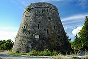 Forteca, the English-built Fort Wellington, on the hill of Sveti Vlaho. Island of Korcula, Croatia