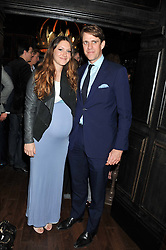BEN & MARY-CLARE ELLIOT at the launch of the Johnnie Walker Blue Label Club held at The Scotch, Mason's Yard, London on 1st May 2012.