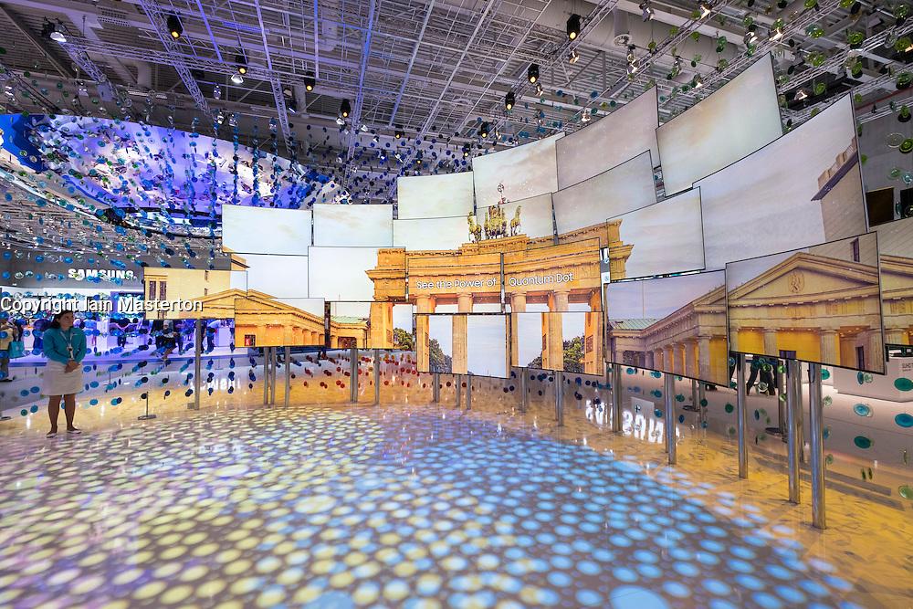 Samsung Quantum Dot Television display at 2016  IFA (Internationale Funkausstellung Berlin), Berlin, Germany