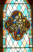 Kings presenting Nativity gifts at Olivet United Church of Christ. St Paul Minnesota USA