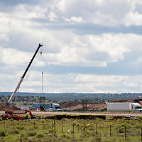 081213       Brian Leddy<br /> Construction continues on the new overpass at the Iyanbito exit on Interstate 40 on Monday. The bridge was aging and due for replacement.