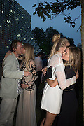 ALAN POWNALL; GEORGINA FORBES; GABRIELLA CALTHORPE; CRESSIDA BONAS, 2016 SERPENTINE SUMMER FUNDRAISER PARTY CO-HOSTED BY TOMMY HILFIGER. Serpentine Pavilion, Designed by Bjarke Ingels (BIG), Kensington Gardens. London. 6 July 2016