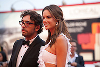 Lorenzo Serafini and Alessandra Ambrosio at the gala screening for the film Everest and opening ceremony at the 72nd Venice Film Festival, Wednesday September 2nd 2015, Venice Lido, Italy.