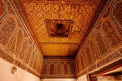 Ornamental roof in the Kasbah de Taourirt, Ouarzazate<br /> <br /> (c) Andrew Wilson | Edinburgh Elite media