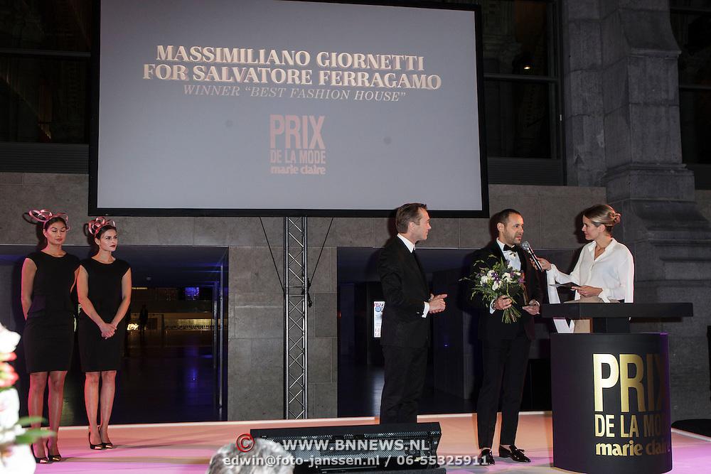 NLD/Amsterdam/20150119 - De Marie Claire Prix de la Mode awards, ' Massimiliano Giornetti for Salvatore Ferragamo wint de Best Fashion House' award