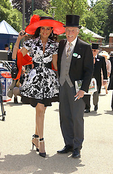 BRUCE FORSYTH and his wife WILNELIA at the 3rd day - Ladies Day of Roayl Ascot 2006 on 22nd June 2006.<br /><br />NON EXCLUSIVE - WORLD RIGHTS