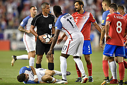 September 1, 2017 - Harrison, New Jersey, U.S - USMNT forward JOZY ALTIDORE (17) asks the referee for a foul on USMNT midfielder CHRISTIAN PULISIC (10) during a World Cup Qualifier at Red Bull Arena in Harrison New Jersey Costa Rica defeats USA 2 to 0 (Credit Image: © Brooks Von Arx via ZUMA Wire)