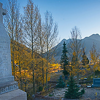 Gravestones mark the final  resting places of mining pioneers from Silverton, Colorado,