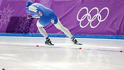 February 18, 2018 - Gangneung, South Korea -  ANGELINA GOLIKOVA of Russia during Speed Skating: Ladies' 500m at Gangneung Oval at the 2018 Pyeongchang Winter Olympic Games. (Credit Image: © Scott Mc Kiernan via ZUMA Wire)