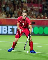 ANTWERPEN -  Nicolas de Kerpel (Belgie)   tijdens finale mannen  Belgie-Spanje-,  bij het Europees kampioenschap hockey.  WSP/ KOEN SUYK