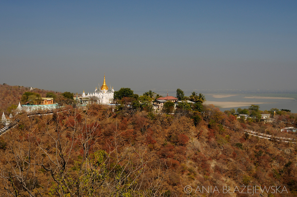 Burma/ Myanmar, Sagaing. <br /> Sagaing is a home for hundreds of temples, monasteries and nunneries and a place where live over 6000 monks.