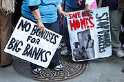 29 April 2010 New York, NY- Audience at The March on Wall Street held at City Hall Park with proceeding March on Wall Street Protest on April 29, 2010 in New York City.