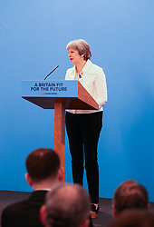 British Prime Minister Theresa May delivers her address to the Conservative Party Spring Forum at the DeVere Grand Connaught Rooms in London. DeVere Grand Connaught Rooms, London, March 17 2018.