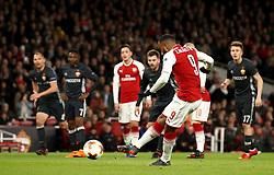 Arsenal's Alexandre Lacazette scores his side's second goal of the game from the penalty spot