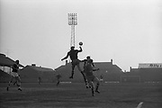 05/05/1965<br /> 05/05/1965<br /> 05 May 1965<br /> Ireland v Spain, World Cup Qualifier at Dalymount Park, Dublin. Spanish keeper Jose Iribar leaps high to punch the ball clear over Andy McEvoy. Ireland won the game 1-0.
