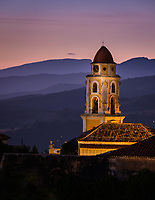 TRINIDAD, CUBA - CIRCA JANUARY 2020: Bell Tower of the  St. Francis of Assisi Convent in Trinidad