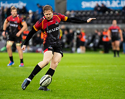 Scott Van Breda of Southern Kings kicks a penalty <br /> <br /> Photographer Simon King/Replay Images<br /> <br /> Guinness PRO14 Round 6 - Ospreys v Southern Kings - Saturday 9th November 2019 - Liberty Stadium - Swansea<br /> <br /> World Copyright © Replay Images . All rights reserved. info@replayimages.co.uk - http://replayimages.co.uk