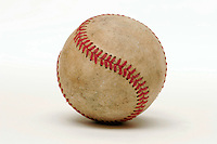 17 May 2005: BASEBALL dirty, used, Sports Ball graphic detail, illustration, product, art, white background.