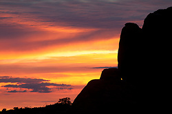 North America, United States, Utah, Arches National Park, sunset at Devils Garden campground