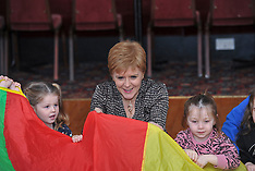 SNP leader Nicola Sturgeon campaigns, Edinburgh, 12 November 2019