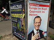 Vienna, Austria. EU election posters and billboards. SPÖ (Social Democrats). Eugen Freund.