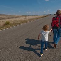 Visitors explore Montana's Little Bighorn Battlefield National Monument.