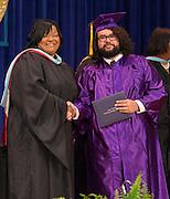 Advanced Virtual Academy / Twilight Academy seniors participate in a graduation ceremony at Reagan High School, May 31, 2014.