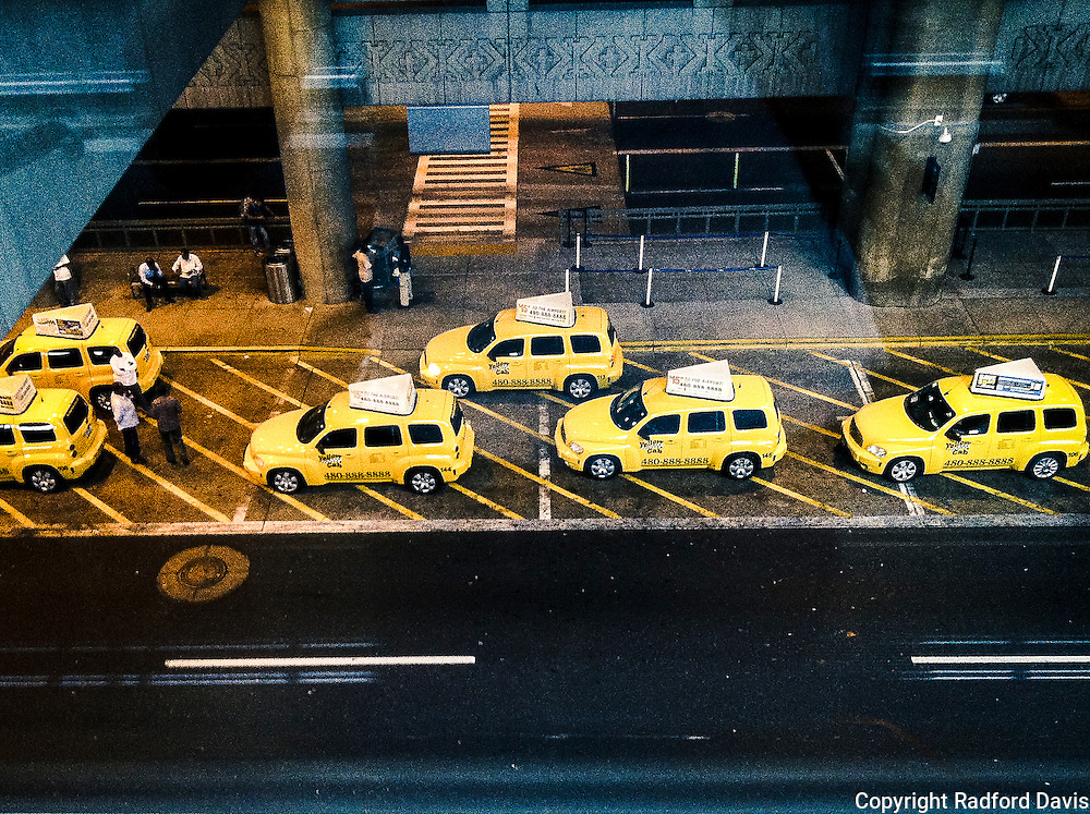 Cabs at the airport, Minneapolis, Minnesota