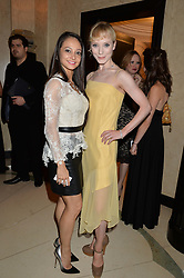 Left to right, dancers ROBERTA MARQUEZ and SARAH LAMB at a dinner hosted by the Royal Academy of Dance to present the Queen Elizabeth II Award 2014 held at Claridge's, Brook Street, London on 4th September 2014.