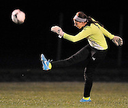 Lakewood at Elyria Catholic girls varsity soccer on September 19, 2012. Images © David Richard and may not be copied, posted, published or printed without permission.