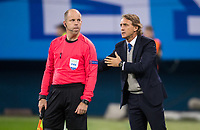 ST PETERSBURG, RUSSIA - OCTOBER 19, 2017. UEFA Europa League group stage: Zenit St Petersburg (Russia) 3 – 1 Rosenborg BK (Norway). Zenit St Petersburg head coach Roberto Mancini (R).