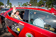 King Willem Alexander is Saturday, July 4th, 2015 attends the Le Grand Départ of the Tour de France