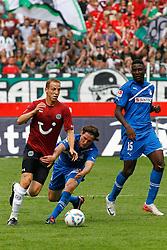 06.08.2011,AWD-Arena, Hannover, GER, 1.FBL, Hannover 96 vs TSG 1899 Hoffenheim, im Bild Sebastian Rudy (Hoffenheim #6) versucht Jan Schlaudraff (Hannover #13) zu halten .// during the match from GER, 2.FBL,  Hannover 96 vs TSG 1899 Hoffenheim on 2011/08/06, AWD-Arena, Hannover, Germany..EXPA Pictures © 2011, PhotoCredit: EXPA/ nph/  Schrader       ****** out of GER / CRO  / BEL ******