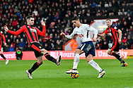 Erik Lamela (11) of Tottenham Hotspur is challenged by Lewis Cook (16) of AFC Bournemouth during the Premier League match between Bournemouth and Tottenham Hotspur at the Vitality Stadium, Bournemouth, England on 11 March 2018. Picture by Graham Hunt.
