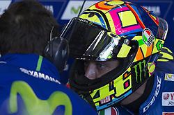 November 11, 2017 - Cheste, Spain - Valentino Rossi (Movistar Yamaha MotoGP) on pit  during qualifying session at Valencia Motogp  (Credit Image: © Gaetano Piazzolla/Pacific Press via ZUMA Wire)