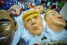 Brazil - Donald Trump Carnival Masks On Sale - 17 Jan 2017