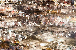 Abstract of Evening in Jemaa el Fna square, Marrakesh, Morocco