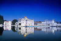 The Durgiana Temple (Hindu), Amritsar, Punjab, India; Amritsar, Punjab, Durgiana Temple; Hindu; Hinduism; Water; Reflection
