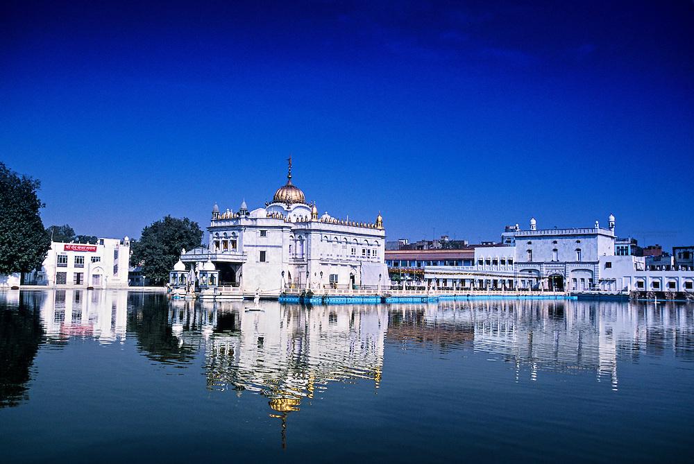 The Durgiana Temple (Hindu), Amritsar, Punjab, India; Amritsar, Punjab, Durgiana Temple; Hindu; Hinduism; Water; Reflection