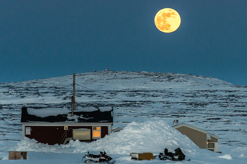 Moon raising in March