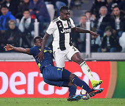 TURIN, March 9, 2019  FC Juventus's Moise Kean (R) vies with Udinese's Nicholas Opoku during a Serie A soccer match between Juventus and Udinese in Turin, Italy, March 8, 2019. Juventus won 4-1. (Credit Image: © Alberto Lingria/Xinhua via ZUMA Wire)