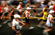 106th Boston Marathon.  And They're off, as runners take off at the start of the 106th Boston Marathon.